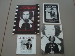 LOT DE 4 DOCUMENTS CINEMA PUBLICITE LA BANQUIERE ROMY SCHNEIDER - Affiches & Posters