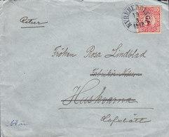Sweden KYRKHEDDINGE (Skåne) 1917 Cover Brief To HUSKVARNA Retour Retur READRESSED HOFSTÄTT 10 Öre Gustaf V. - Schweden