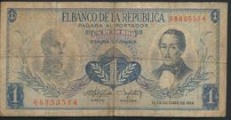 °°° COLOMBIA 1 PESO ORO 1959 °°° - Colombia
