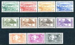 Nouvelles Hebrides 1957 Pictorials Set HM (SG F96-F106) - French Legend