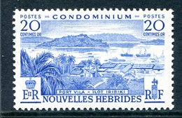 Nouvelles Hebrides 1957 Pictorials - 20c Value LHM (SG F99) - French Legend