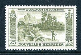 Nouvelles Hebrides 1957 Pictorials - 25c Value LHM (SG F100) - French Legend