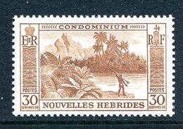 Nouvelles Hebrides 1957 Pictorials - 30c Value LHM (SG F101) - French Legend