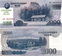 NORTH KOREA     2000 Won      Comm.       P-CS22       J. 97 / 2008 (2018)        UNC - Corea Del Nord