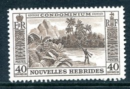Nouvelles Hebrides 1957 Pictorials - 40c Value LHM (SG F102) - French Legend