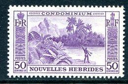 Nouvelles Hebrides 1957 Pictorials - 50c Value LHM (SG F103) - French Legend