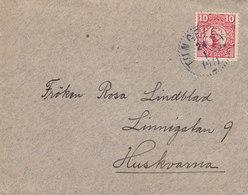 Sweden TUNGELSTA 1917 'Petite' Cover Brief To HUSKVARNA Via JÖNKÖPING 10 Öre Gustaf V. - Schweden