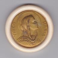 MÉDAILLON XIXe VIRGO MARIA DIAMÈTRE 5,8 Cm Médaille Marie Medal Virgin Mary - Religion & Esotérisme