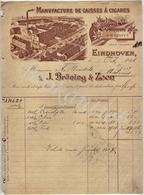J.BRÜNING & ZOON  Manufacture De Caisses à Cigares  EINDHOVEN  Factuur 5 October 1906 - Nederland