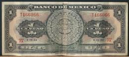 °°° MEXICO 1 PESO 1954 °°° - Messico