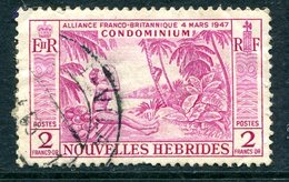 Nouvelles Hebrides 1957 Pictorials - 2f Value Used (SG F105) - French Legend