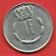LUXEMBOURG  # 1 FRANC FROM 1981 - Luxembourg