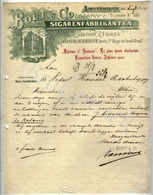 BOUT & C° Sigarenfabrikanten   AMSTERDAM  Brief Aan Handelsmaatschappij  25 Augustus 1905 - Nederland