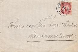 Sweden HERRÄNG 1913 'Petite' Cover Brief To MARIANNELUND 10 Öre Gustaf V. - Schweden