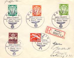 R-Brief 276-280 (Sammlerbeleg) 1939 Danzig - Dantzig