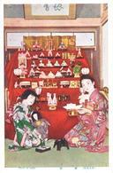 POSTAL   JAPON  - FEAST OF DOLLS - Japón