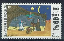 Saint Pierre And Miquelon, Christmas, 1992, MNH VF - St.Pierre & Miquelon