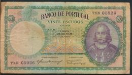 °°° PORTUGAL 20 ESCUDOS 1954 °°° - Portogallo
