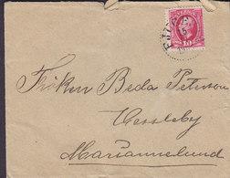 Sweden FJUGESTA 1903 'Petite' Cover Brief To MARIANNELUND 10 Öre Oscar II. Koppertryck - Schweden
