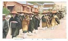 POSTAL   JAPON  - MENDICANT PRIESTS - Japón