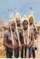 AFRIQUE. COTE D'IVOIRE. ABIDJAN. DANSEUSES AUX TRESSES. ANNEE 1961. PUBLICITE AMORA - Côte-d'Ivoire