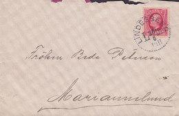 Sweden LINDESBERG 1911 'Petite' Cover Brief To MARIANNELUND 10 Öre Oscar II. Koppertryck - Schweden