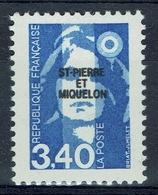 Saint Pierre And Miquelon, Marianne By Briat, Bicentenary, 3f40, 1992, MNH VF - St.Pierre & Miquelon