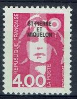 Saint Pierre And Miquelon, Marianne By Briat, Bicentenary, 4f, 1992, MNH VF - St.Pierre & Miquelon
