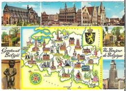 BELGIQUE - Carte De Géographie - Multi-vues - Cartes Géographiques