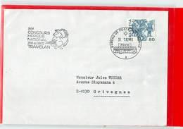 SVIZZERA - IPPICA EQUITAZIONE - HORSE - TRAMELAN 1982 - CONCOURS HIPPIQUE NATIONAL 1982  -  Poste Mobile - Ippica