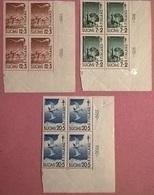 FINLANDIA 1950 QUARTINA PRO TUBERCOLOTICI - Finlandia