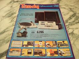 CATALOGUE TANDY HI FI ORDINATEUR 1981 - Livres, BD, Revues
