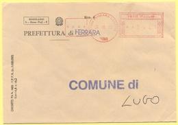 ITALIA - ITALY - ITALIE - 2002 - 00,41€ EMA, Red Cancel - Prefettura Di Ferrara - Viaggiata Da Ferrara Per Lugo - Affrancature Meccaniche Rosse (EMA)