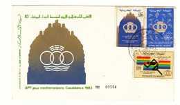 Maroc.  FDC. Palestine Et Jeux Méditerranéens Casablanca 1983. - Morocco (1956-...)