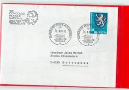 SVIZZERA - IPPICA EQUITAZIONE - HORSE - TRAMELAN 1981 - CONCOURS HIPPIQUE NATIONAL 1981  -  Poste Mobile Remorque - Ippica