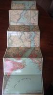 CARTE DEPLIANTE TURQUIE TURKEY BOSPHORE CIRCA 1900 Format 101 X 28 Cm Env. /FREE SHIPPING REGISTERED - Geographical Maps