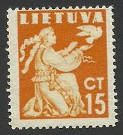 Lithuania, 15 C, 1940, Scott # 319, Mi # 439, MH. - Lithuania