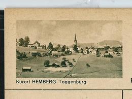 Carte Illustré Neuve N° 182 - 0197 D  -   Kurort HEMBERG Toggenburg  (Zumstein 2009) - Entiers Postaux