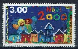 Saint Pierre And Miquelon, Christmas, Angels And Church, 2000, MNH VF - St.Pierre & Miquelon