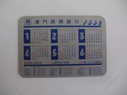 Bank/Banque/Banco Luso International Banking Limited, Macau Macao China Pocket Calendar 1990 - Calendriers