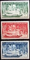 1947 Guyane Yt 207, 208, 209 .River Oyapok  . Neuf Trace Charnière - Guyane Française (1886-1949)