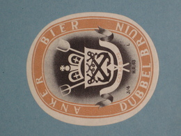 Oud Bier Etiket DUBBEL BRUIN Brouwerij Brasserie HET ANKER Mechelen - Cerveza