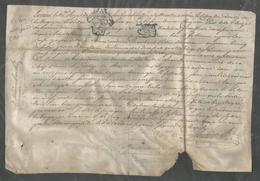 Parchemin A Dechiffrer De 1775 Généralité Poitiers  Senechaussée Montmorillon Maisonnais Sur Tardoire Haute Vienne - Cachets Généralité