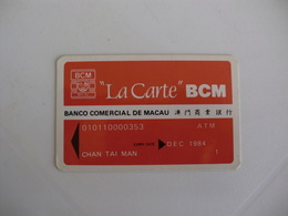 Bank/Banque/Banco Comercial De Macau Macao China Pocket Calendar 1987 - Calendriers