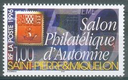 Saint Pierre And Miquelon, Philatelic Automn Show, Paris, 1996, MNH VF - St.Pierre & Miquelon