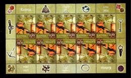 Latvia Lettland Lettonie 2014 Turaida Castle - 800 Years, Larchitectura - Coin Full Sheet  MNH - Letland
