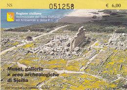 BIGLIETTO  D'INGRESSO  /  Musei, Gallerie E Aree Archeologiche Di Sicilia _ Biglietto - Biglietti D'ingresso