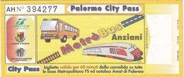 PALERMO /   Biglietto _ Metrò-Bus - Bus