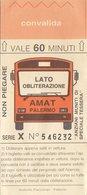 PALERMO /   Biglietto _ Bus - Bus