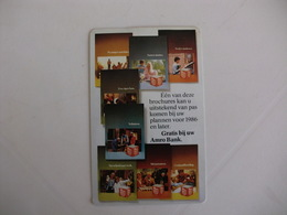 Bank Banque Banco Amro Pocket Calendar 1986 - Calendriers